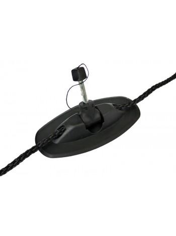 Уключина поворотная модернизированная под леерный шнур