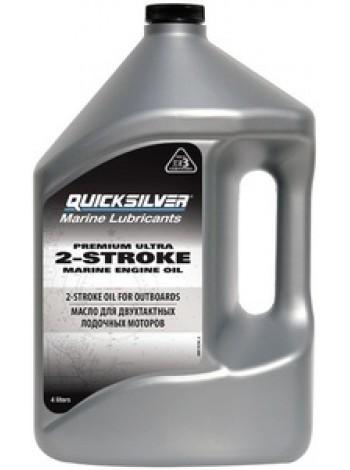 Масло Quicksilver двухтактное Premium Ultra TC-W3 (2хтактное) - 4 л