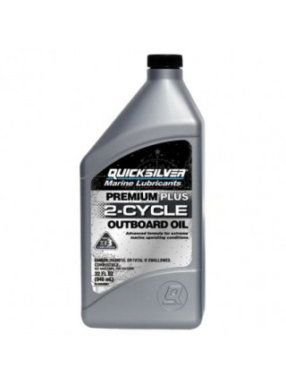 Масло Quicksilver 2-cycle TC-W3 Premium PLUS outboard oil (2хтактное) 1 л