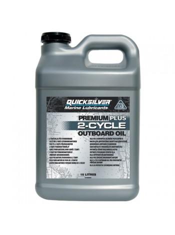 Масло Quicksilver 2-cycle TC-W3 Premium PLUS outboard oil (2хтактное) 10 л