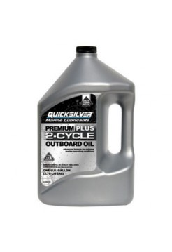 Масло Quicksilver 2-cycle TC-W3 Premium PLUS outboard oil 4 л