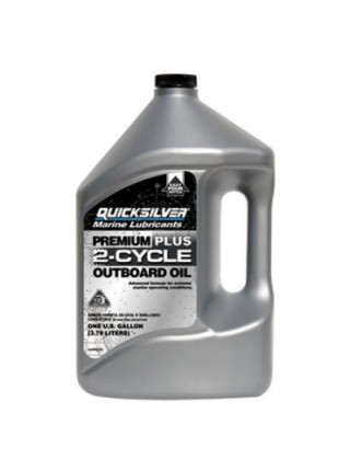 Масло Quicksilver 2-cycle TC-W3 Premium PLUS outboard oil (2хтактное) 4 л