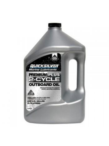 Масло Quicksilver 2-cycle TC-W3 Premium PLUS outboard oil (2хтактное) 4 л