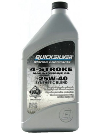 Масло Quicksilver 4-cycle 25W-40 synthetic oil (4хтактное) 1 л