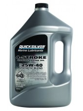 Масло Quicksilver 4-cycle 25W-40 synthetic oil (4хтактное) 4 л
