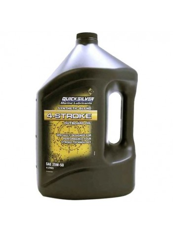 Масло Quicksilver 4-cycle 25W-50 synthetic oil (4хтактное) 4 л