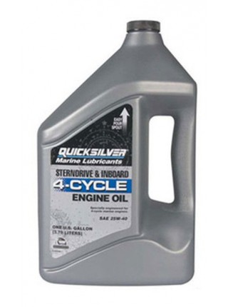 Масло Quicksilver 4-cycle gasoline & diesel 25W-40 oil 4 л